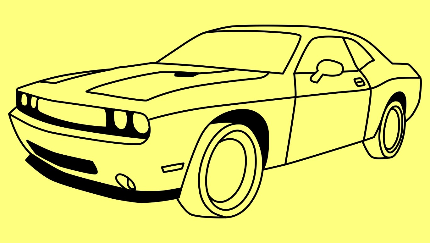 1368x773 How To Draw Dodge Challenger Rt 2011