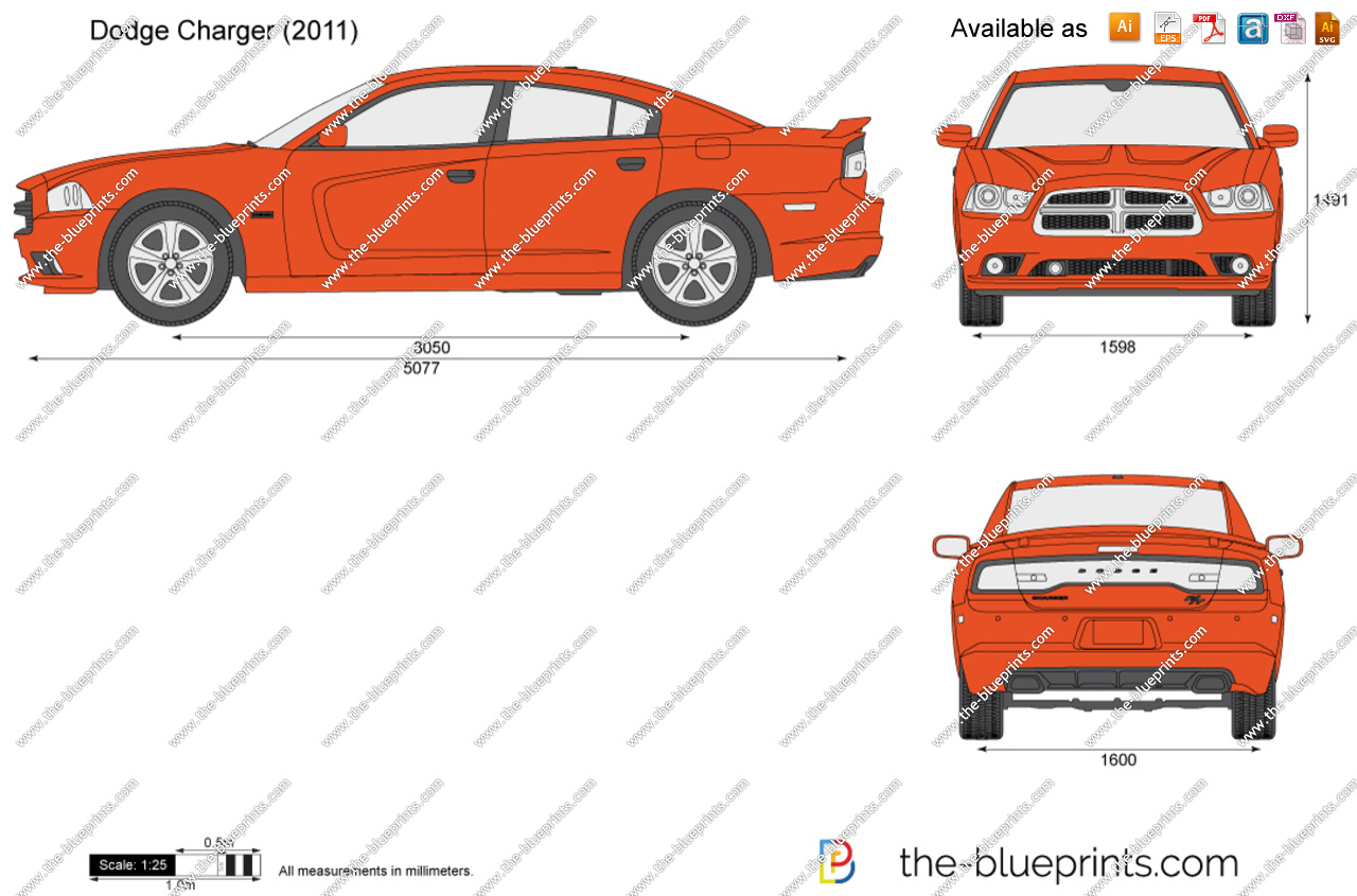 Dodge charger drawing at getdrawings free for personal use 1280x845 dodge charger vector drawing malvernweather Choice Image