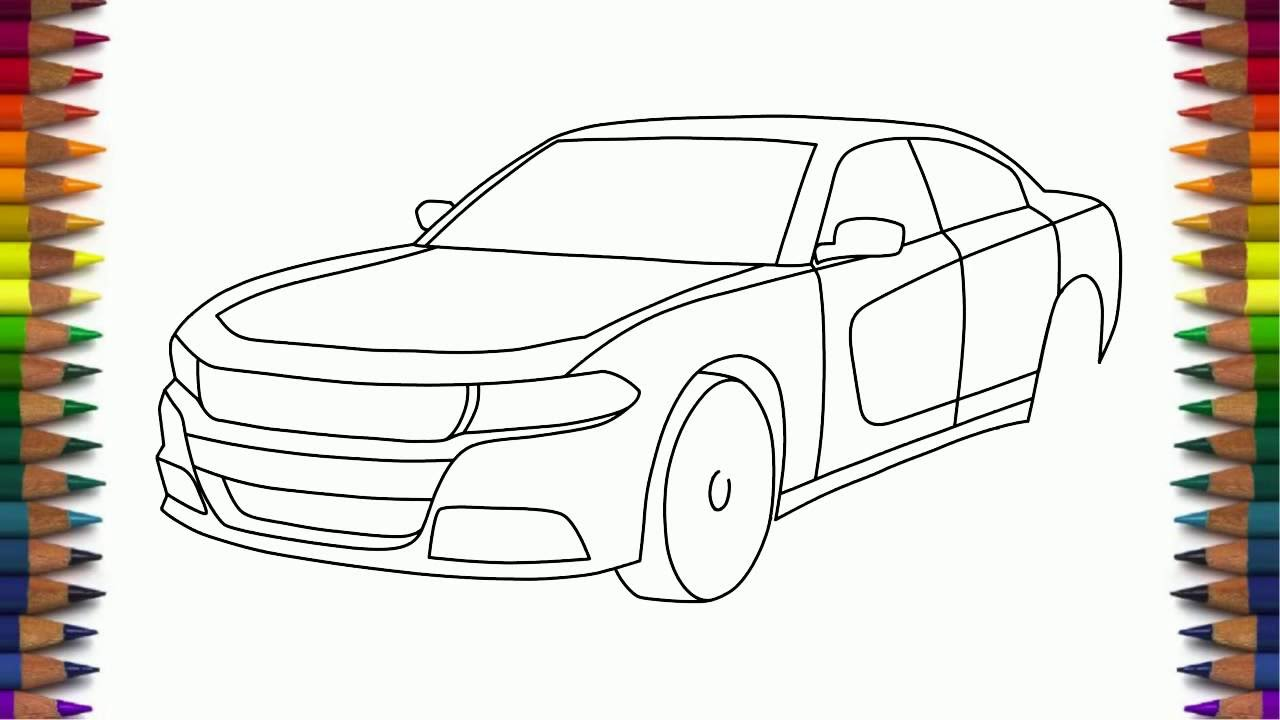 1280x720 How To Draw Dodge Charger Rt 2015 Step By Step Easy For Beginners