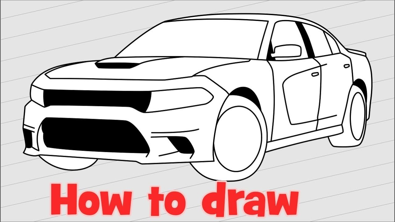 1280x720 How To Draw A Car Dodge Charger Srt