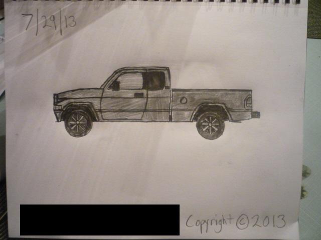 640x480 Sketch Of My Johnny Lightning 1996 Dodge Ram 1500 By Masterpeace23