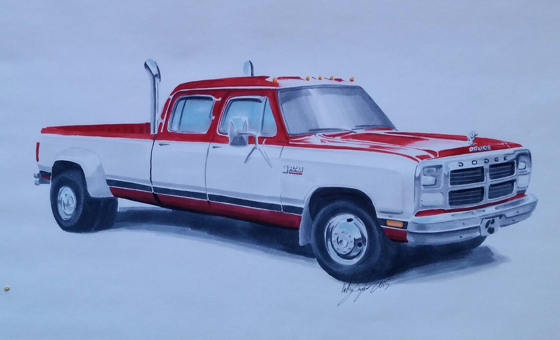 Dodge Truck Drawing At Free For Personal Use 1988 Dakota Wiring Diagram 1148x696 First Gen By Dieselart