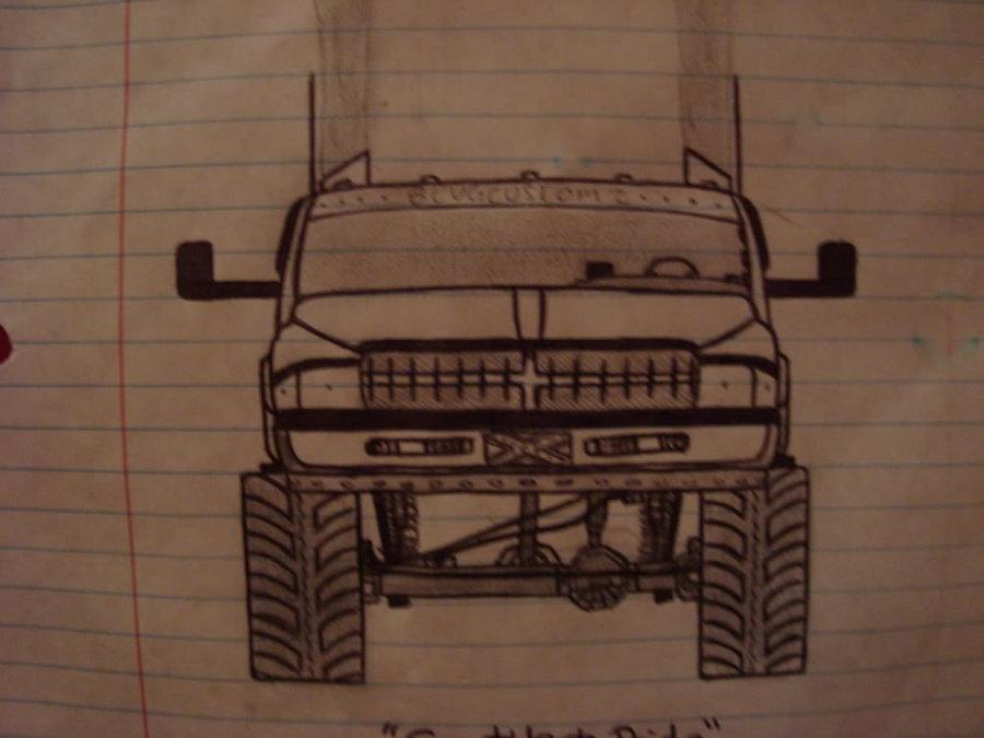 900x675 Dodge Ram Drawing By Leonsayshixd
