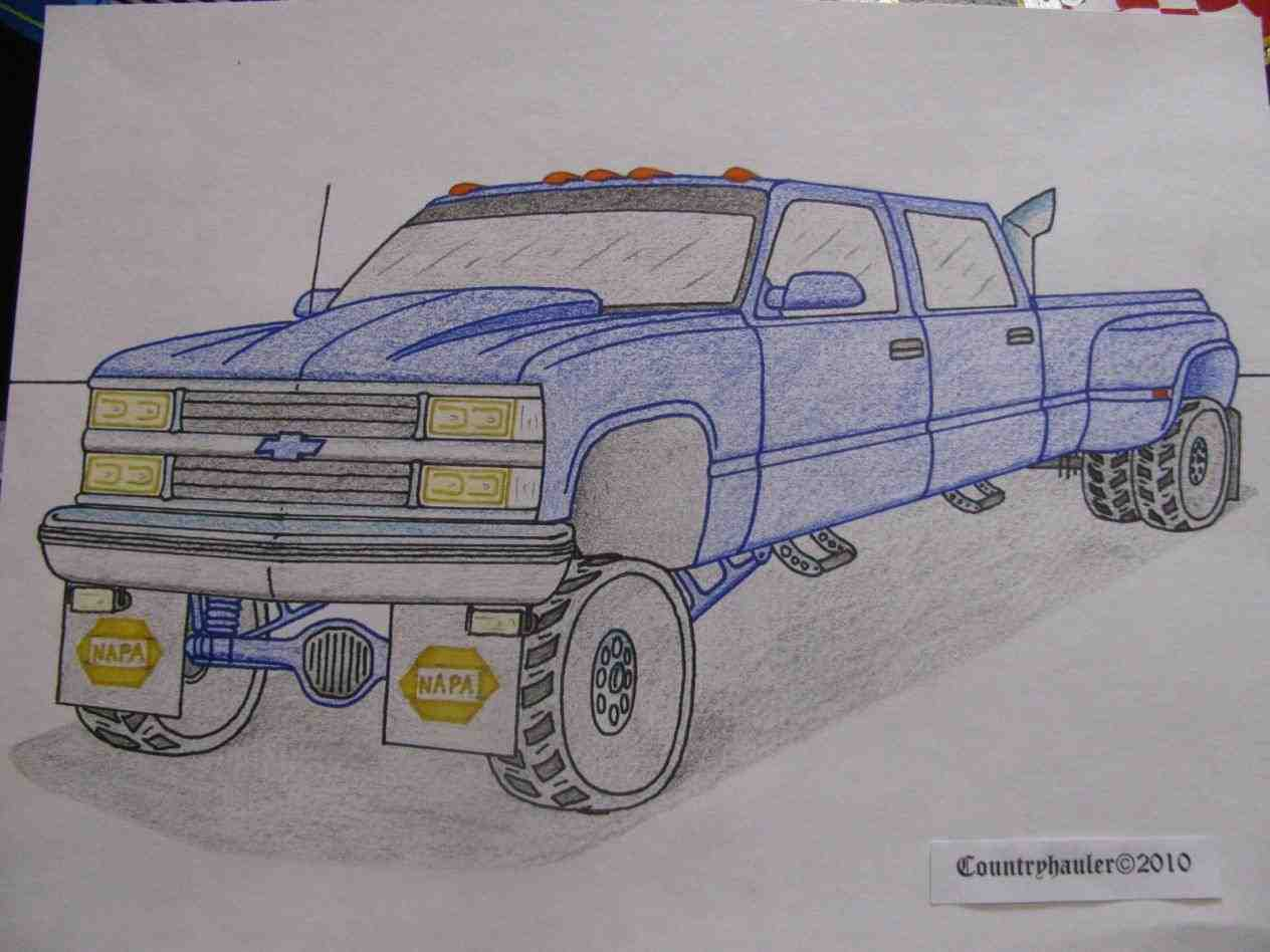 Dodge Truck Drawing At Free For Personal Use 1988 Dakota Wiring Diagram 1264x948 How To Draw A Jacked Up Lifted Drawings
