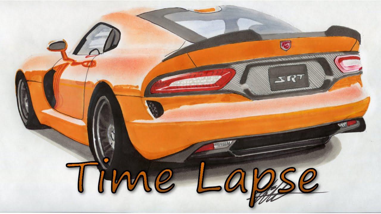 1280x720 2014 Dodge Srt Viper Drawing