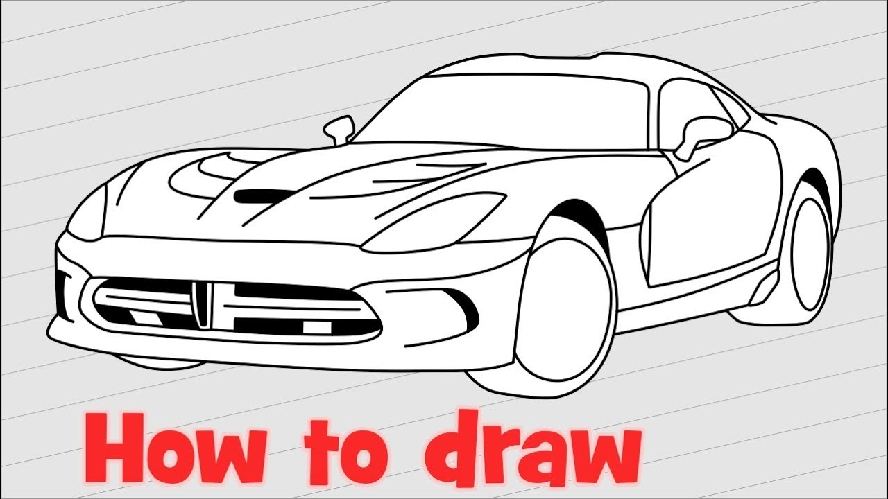 1280x720 How To Draw A Car Dodge Viper Srt 2017