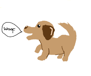 300x250 A Dog Barking (Drawing By Flying Snow)