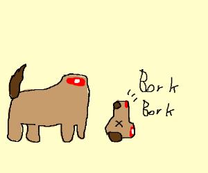 300x250 Decapteded Dog Barks