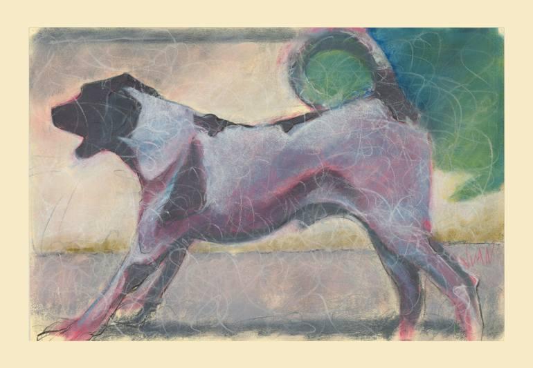 770x533 Saatchi Art Dog Barking Drawing By Juan Lopez Bonilla