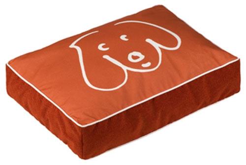 500x336 Orange Crypton Doodle Dog Rectangle Dog Beds Pet Bed