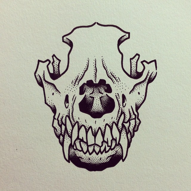 640x640 Animal Love, To Death. Tattoos Dog Bones, Drawing