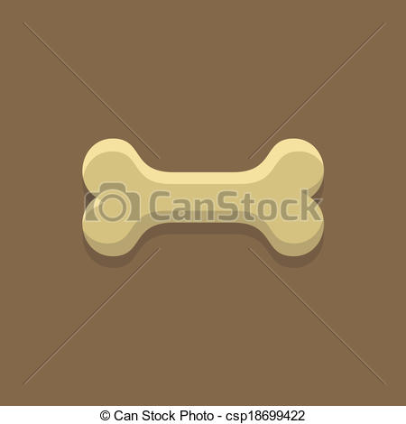 450x470 Dog Bone Cookie. Vector Illustration In Minimalism Style Vector