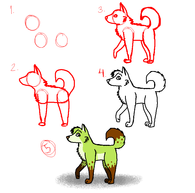 792x785 How To Draw An Easy Dog By Wildixhp
