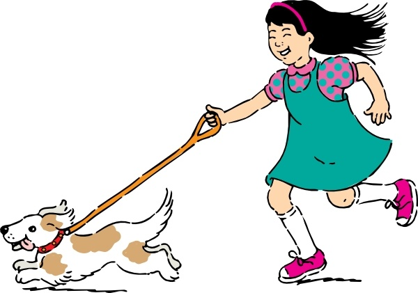 600x421 Walking Dog Clip Art Free Vector In Open Office Drawing Svg ( Svg