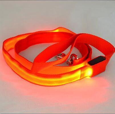 404x399 120cm Nylon Pet Led Dog Leash Night Safety Led Flashing Glow Led