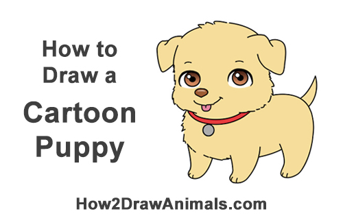 500x315 how to draw a puppy cartoon