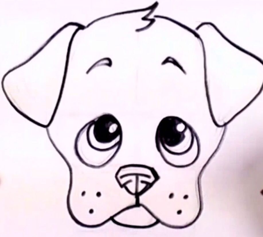 917x826 easy to draw a cute puppie