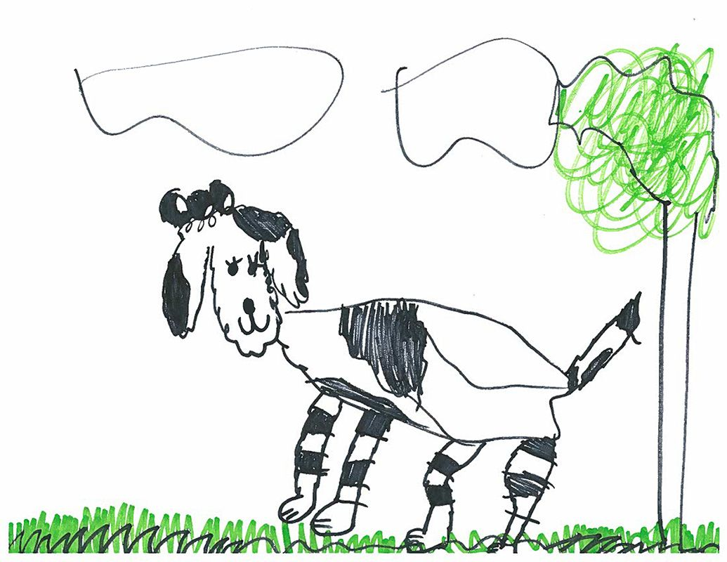 1035x800 Dog Drawing For Kids