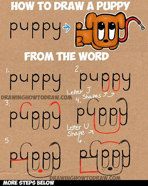 474x596 how to draw cartoon dogs with the word dog in easy steps tutorial