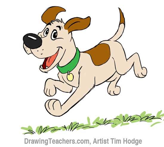 550x491 Draw Disney Style Cartoon Dog. How To Draw A Dog Step By Step By