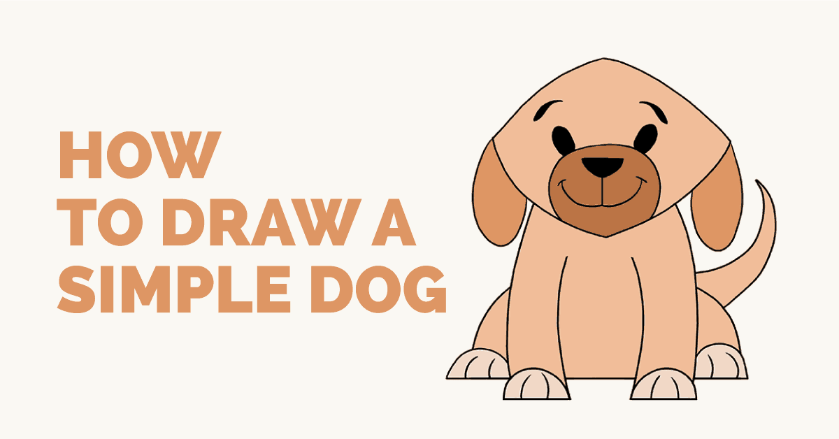 1200x628 How To Draw A Simple Dog Easy Drawing Guides