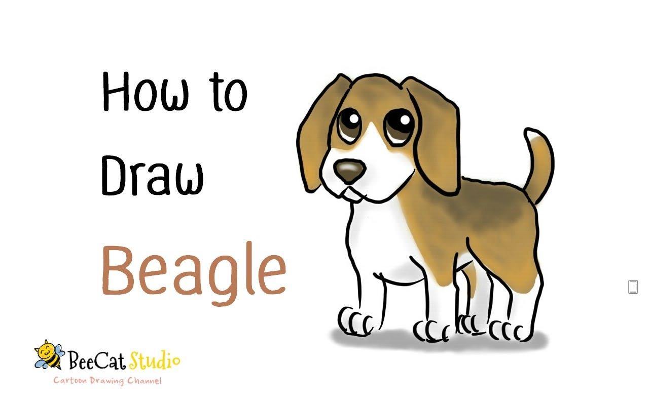 1280x800 How To Draw A Cute Cartoon Beagle (Cartoon Dog)