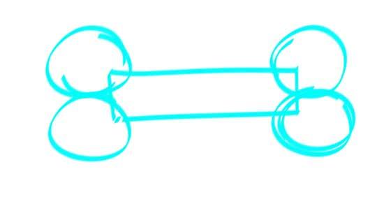 550x312 How To Draw A Dog Bone