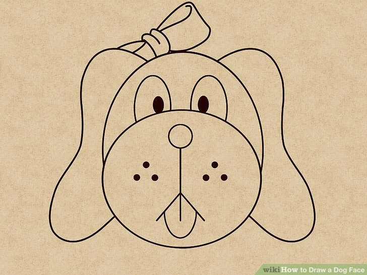 728x546 How To Draw A Dog Face (With Pictures)