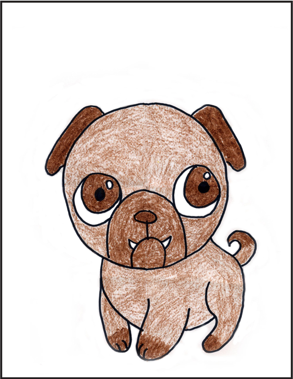 1000x1294 How To Draw A Pug