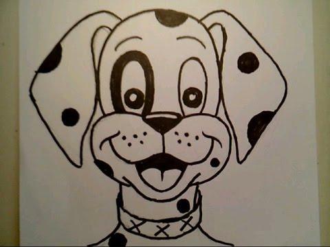 480x360 How To Draw A Dog Cute Cartoon Dalmatian Puppy Pretty Beautiful