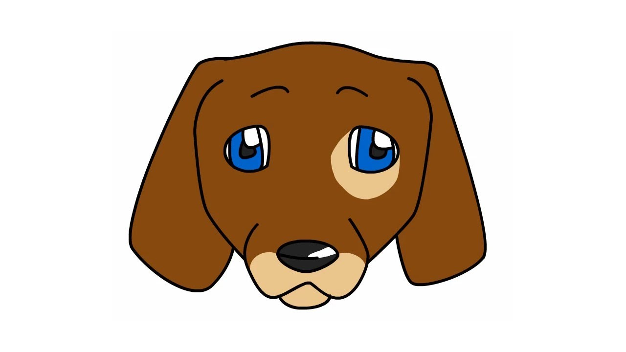 1280x720 How To Draw A Cute Dog Face For Beginners Or Kids Drawing