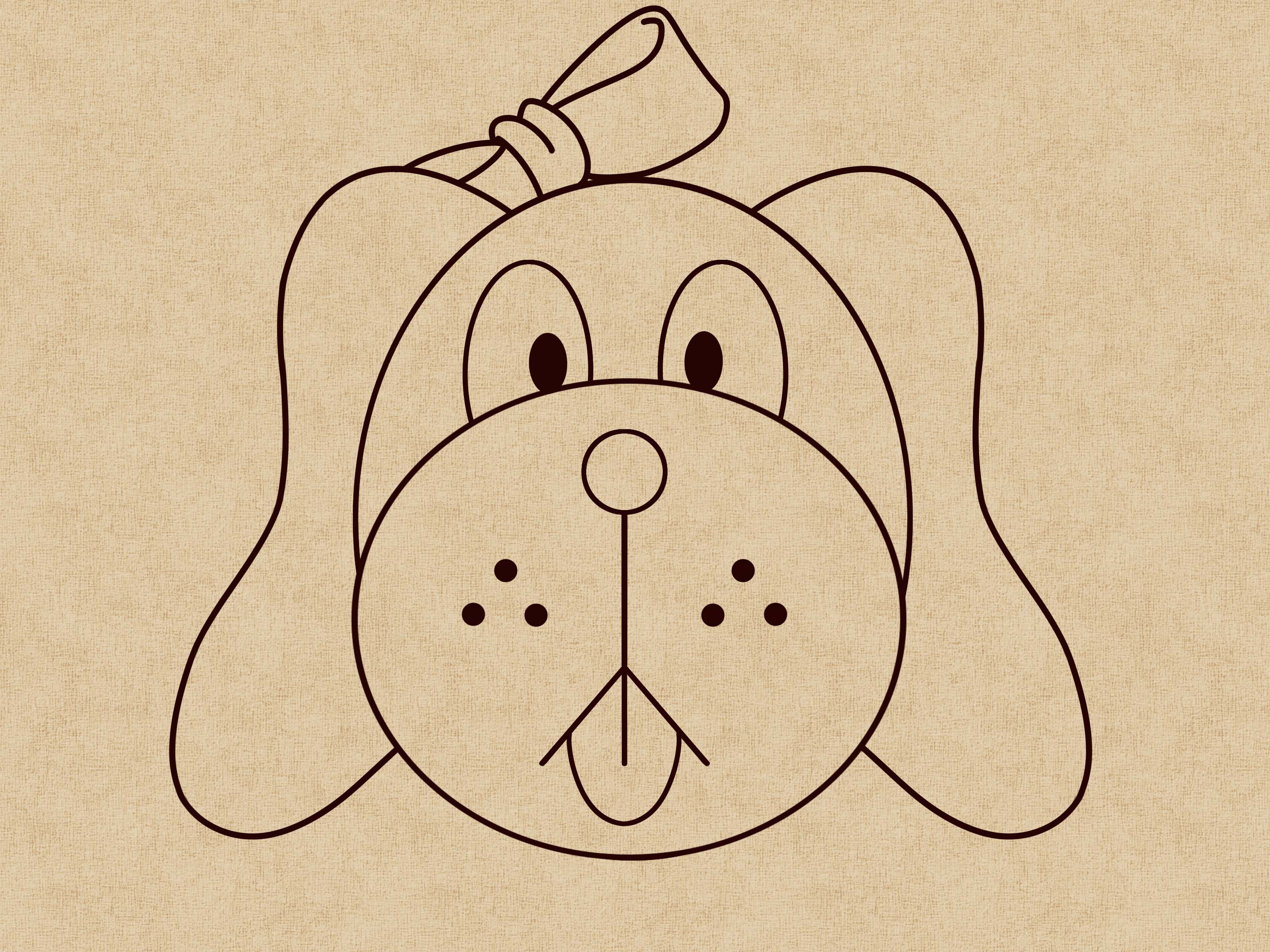 Continuous Line Drawing Face : Dog face cartoon drawing at getdrawings free for personal