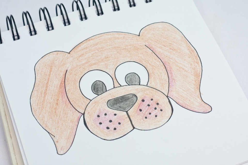 1024x682 easy dog drawings how to draw a dog face easy clipart best