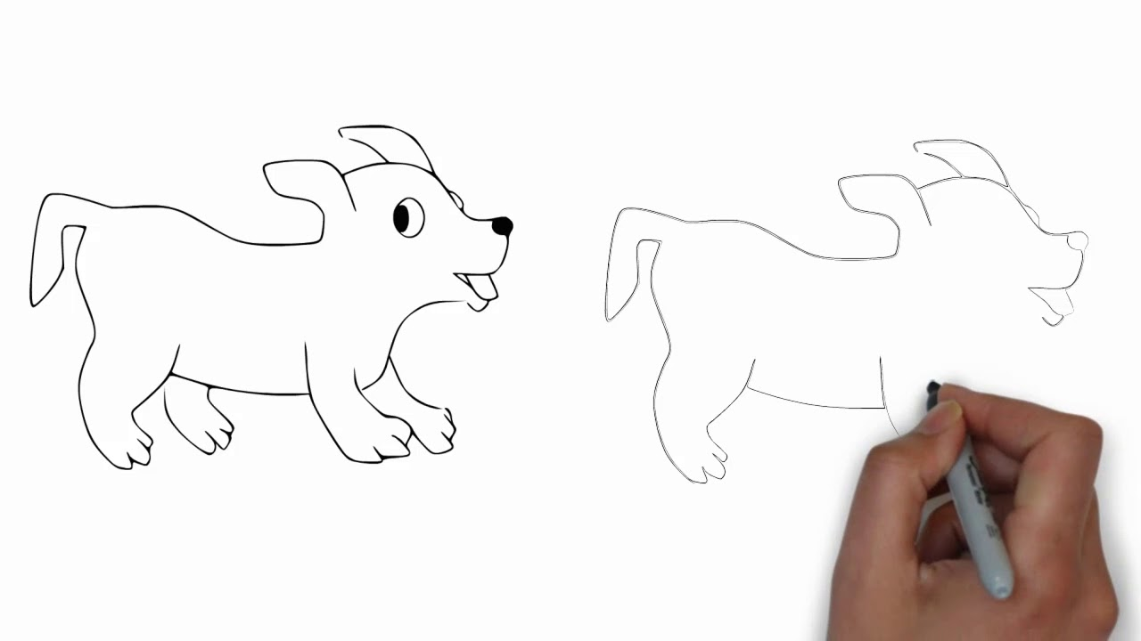 1280x720 Dog For Drawing With Easy Step Mr Painting