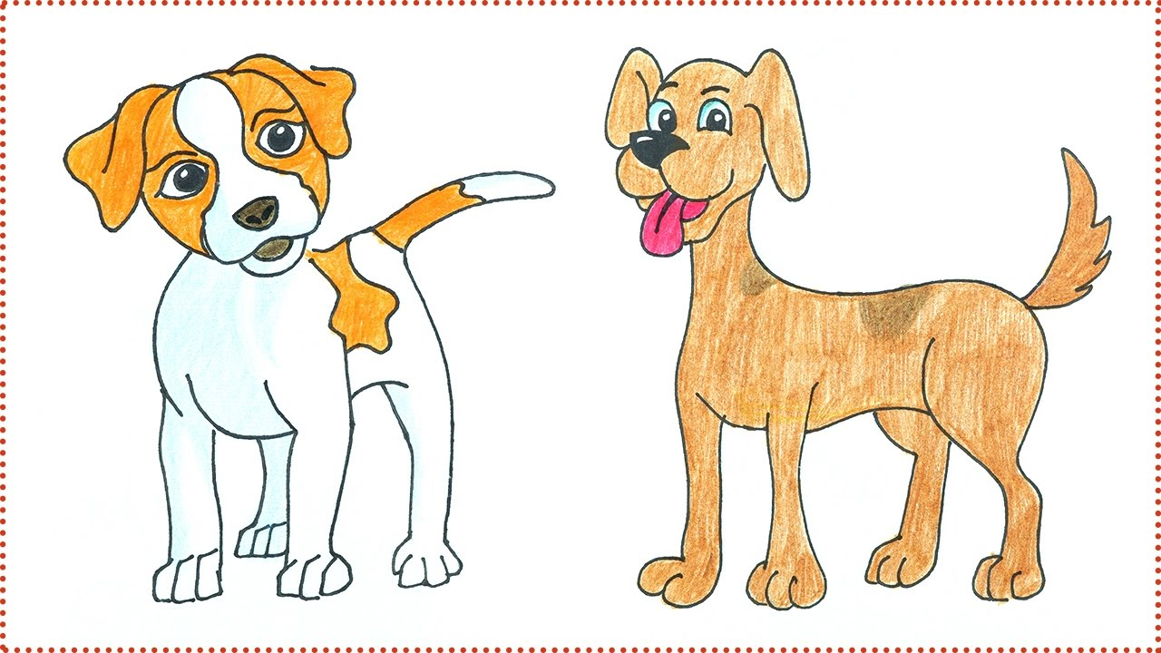 1280x720 Easy Dog Drawing