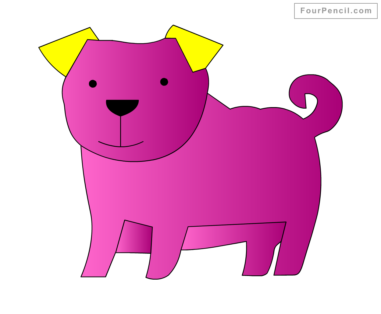 1250x1032 How To Draw Dog For Kids Step By Step Drawing Tutorial, Draw Dog