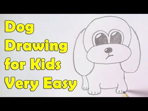 480x360 How To Draw A Dog For Kids Dog Drawing Tutorial, Easy Drawings