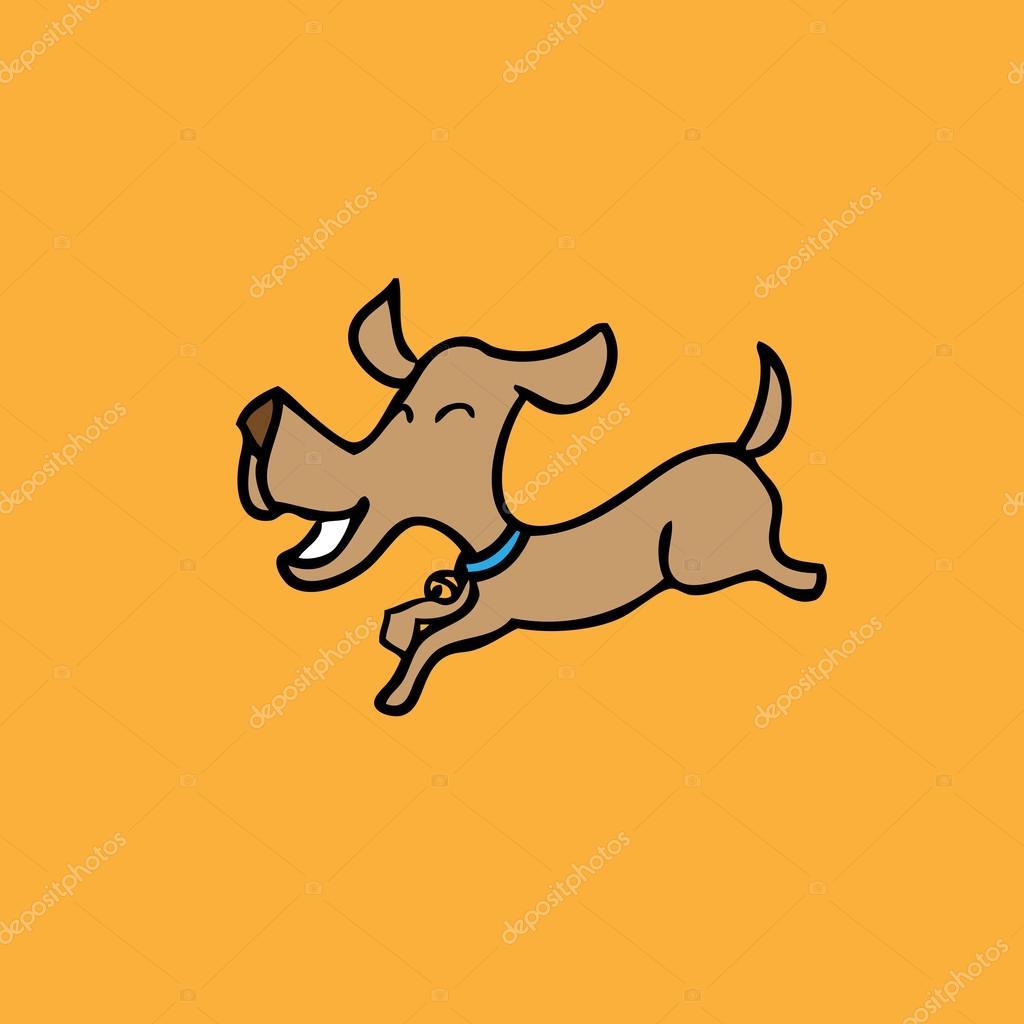 1024x1024 Dog Jumping Stock Vector