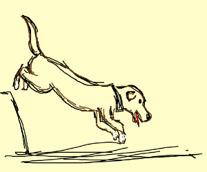 300x250 Dog Jumping (Drawing By Cindervoid)