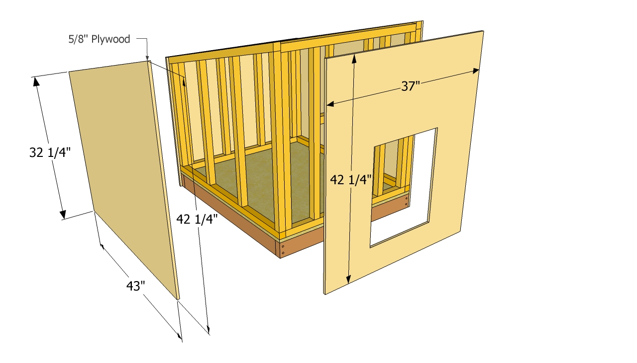Dog kennel drawing at getdrawings free for personal use dog 1280x731 small dog house plans malvernweather Image collections