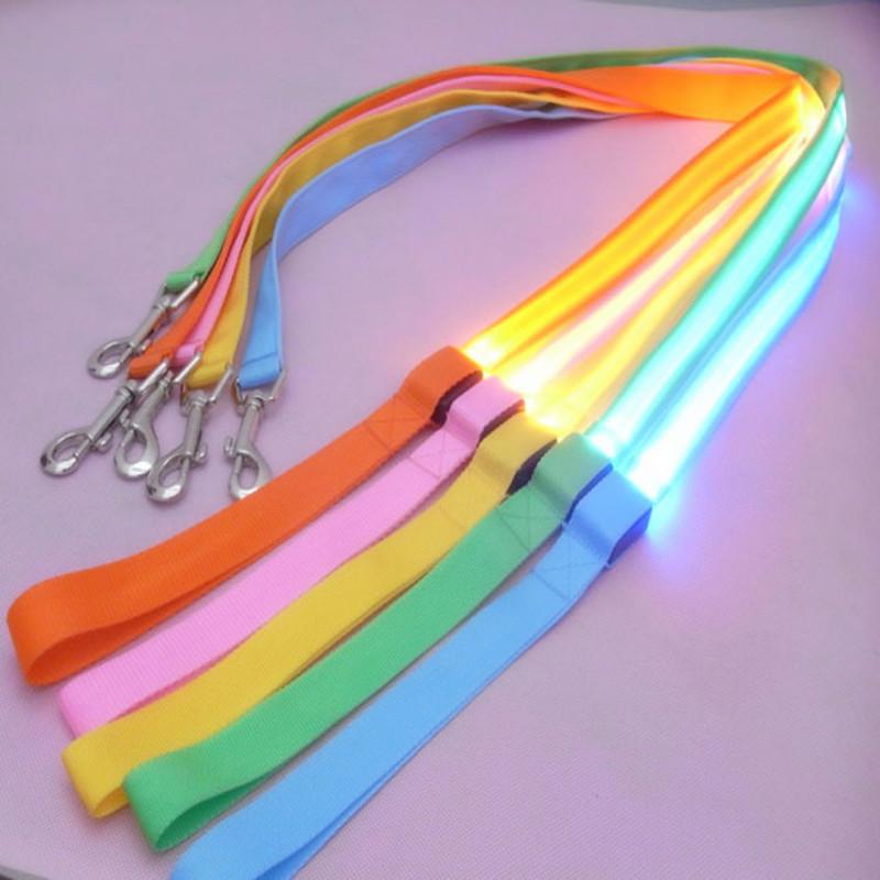 800x800 120cm Nylon Pet Led Dog Leash Night Safety Led Flashing Glow Led