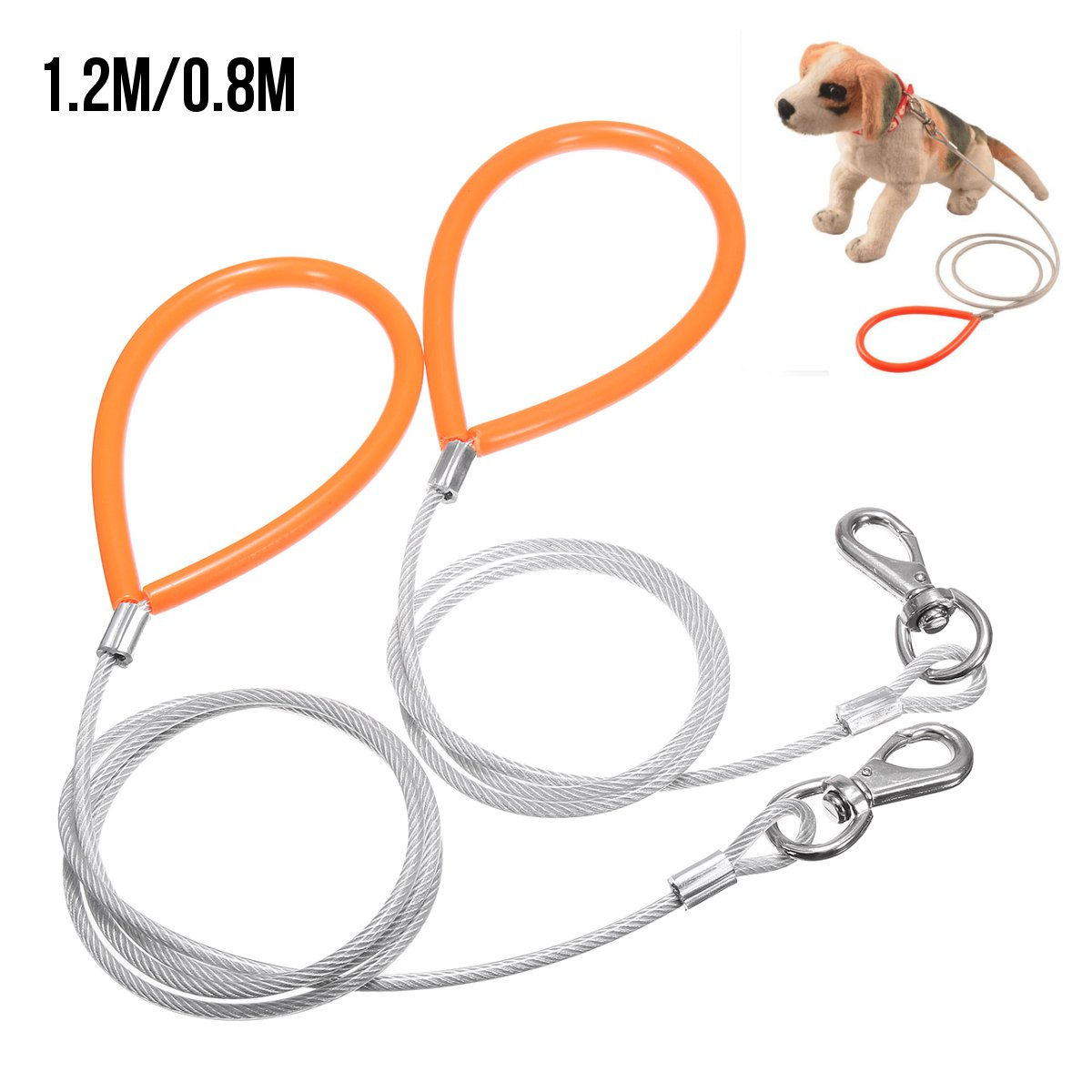 1200x1200 Dog Traction Rope Steel Wire Leash Large Wire Drawing Rope Tension