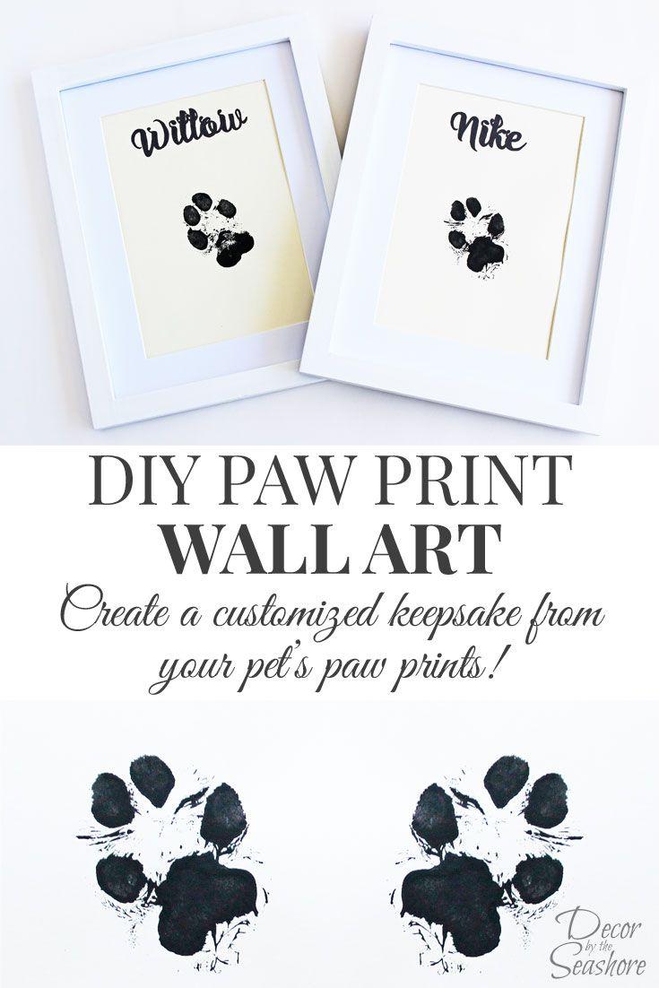735x1102 Diy Paw Print Wall Art Dog, Walls And Printing