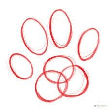 225x225 How To Draw Dog Paw Prints 8 Steps (With Pictures) School Art