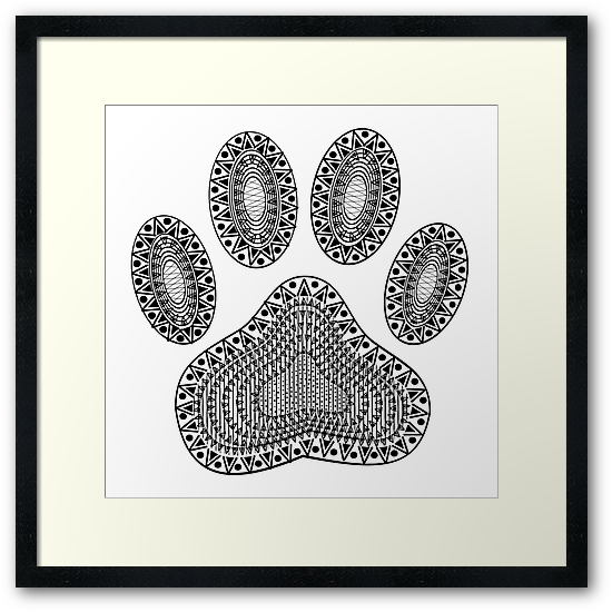 550x550 Ampquot,ink Abstract Dog Paw Printampquot, Framed Prints By