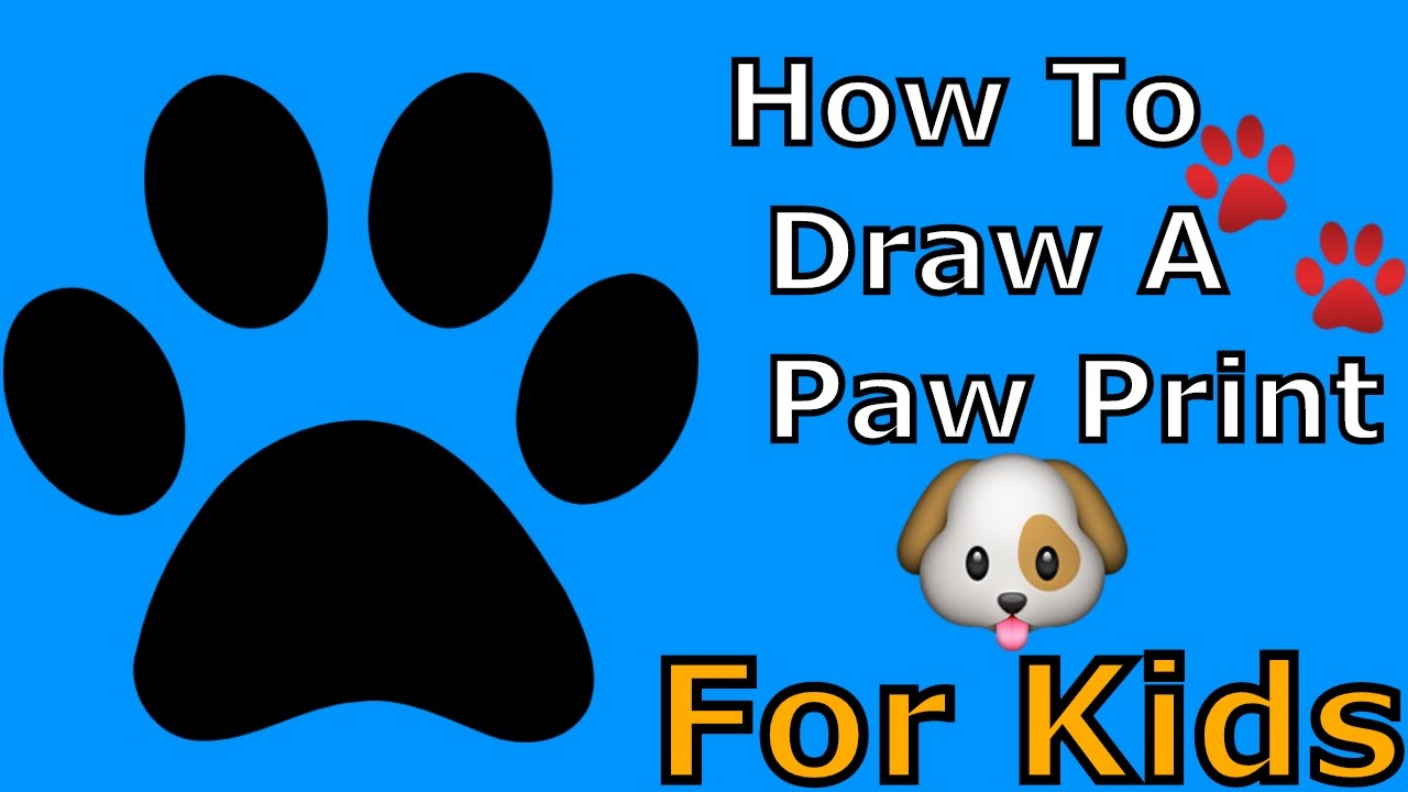 1280x720 Drawing Of Dog Paw Prints Drawn Puppy Paw Print