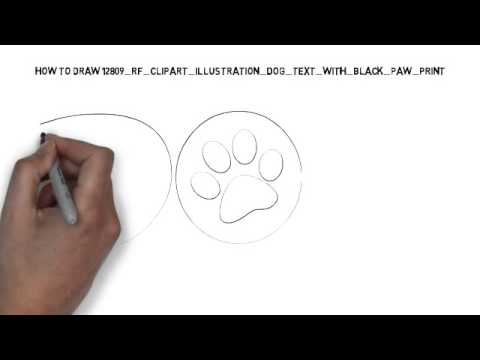 480x360 How To Draw Clipart Illustration Dog Text With Black Paw Print