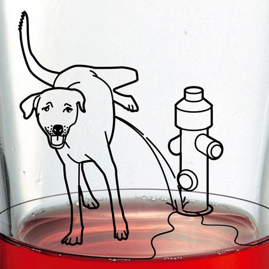 532x532 Yum! A Dog Peeing On My Glass Dog Pee