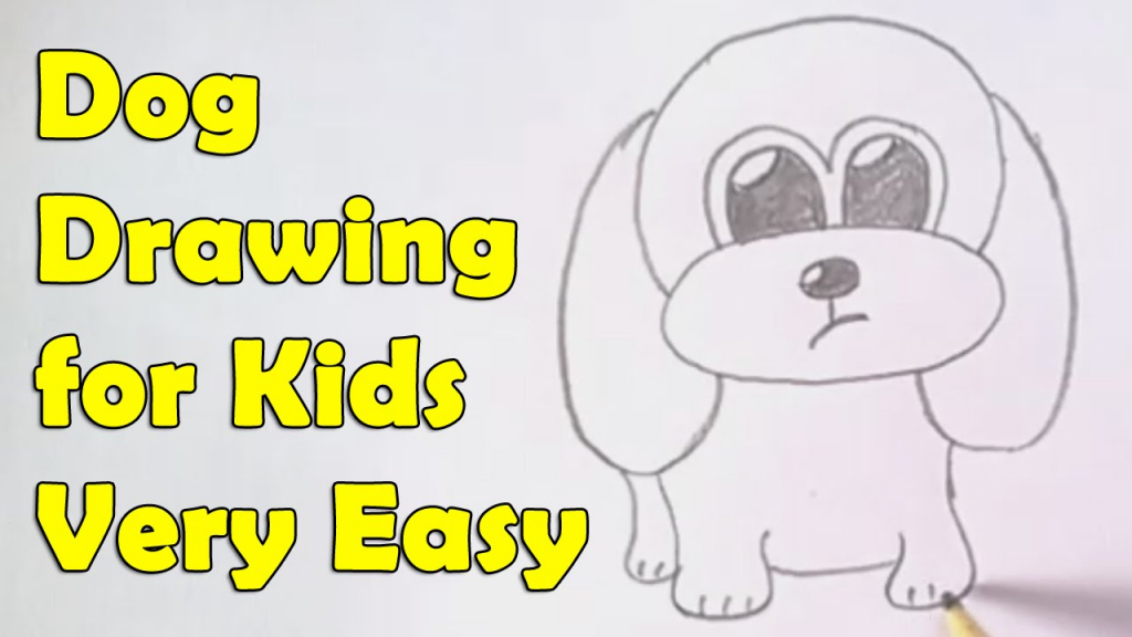 1024x576 How To Draw A Dog Step By Step For Kids Simple Drawing Lesson