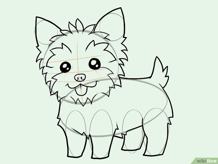 760x570 How To Draw A Yorkie (With Pictures)
